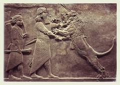 Look on my works ye mighty and despair (rhabdo1) Tags: blackandwhite lion britishmuseum babylon