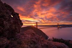 Eye of the Headlands (landESCAPEphotography | jeff lewis) Tags: california bridge jeff sunrise golden gate san francisco lewis sunstar escaype escaypeday