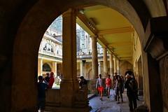 The Roman Baths, Bath (Eddie Crutchley) Tags: england sunlight architecture bath europe arch roman romanbaths historicbuilding