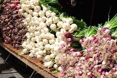 Root vegetables (pburka) Tags: nyc white colorful farmers market manhattan vegetable onion root beet unionsquare radish unionsq