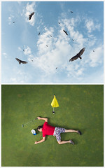 Diptych - Golfer (loganzillmer) Tags: conceptualimage conceptualphotography fineartphotography golf vulture death