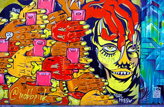 In the Clutches of a Narcopath (Rob Goldstein-Working) Tags: sanfrancisco california red color canon graffiti colorful raw narcissism rob smear liars gamers bullies campaigns muralart robertgoldstein lblogger artbyrobgoldstein