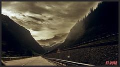 Verso il Confine (triziofrancesco) Tags: road italy alps clouds montagne austria strada italia nuvole border alpi altoadige oesterreich nubi sudtyrol