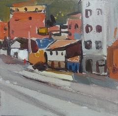 Cusco: shops downtown (tadeusz deręgowski) Tags: peru painting pintura arte travel oilpainting journey cusco arequipa puno impressionism impressionist art pochade pochades peruvian