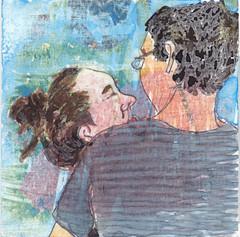 # 183 (01-07-2016) (h e r m a n) Tags: herman illustratie tekening bock oosterhout zwembad 10x10cm 3651tekenevent tegeltje drawing illustration karton carton cardboard jongenenmeisje boyandgirl lover love liefde liebe kiss kus omhelzing hug