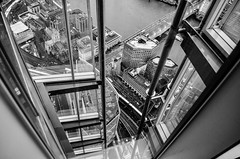 View from The Shard (Stan d'Art) Tags: london uk england view theshard the shard skyscaper tourist blackandwhite bw glass city busy panorama