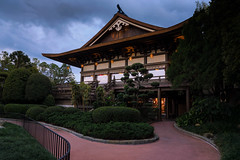 Blue hour at EPCOT (Jim Nix / Nomadic Pursuits) Tags: travel family vacation holiday japan architecture orlando epcot florida sony roadtrip disney bluehour themepark lightroom colorefexpro nomadicpursuits jimnix sonya7ii