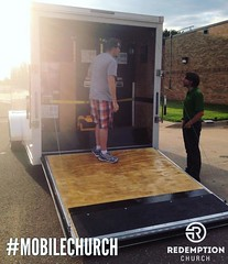 Does your church fit neatly into a trailer after service ends? Ours does! In fact, we are growing, and we are adding more kids classes, so we purchased a second trailer! On Saturday morning, July 23rd, the Portable Church company will be delivering our se (rcokc) Tags: morning our get church make up sign kids work out this us is teams jump portable with time great july saturday we equipment company more your will join be second week service after how taste growing trailer does adding 23rd fit newly edmond happen redemption serve ours ends fact classes on delivering in churchplant churchplanting purchased neatly mobilechurch edmondok portablechurch redemptionokccomblog
