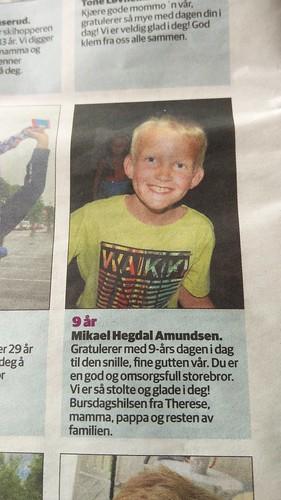 Mikael 9 år