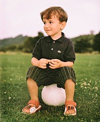 Passion Has Its Place (Steve Lundqvist) Tags: boy portrait field shirt youth ball children football kid child soccer young cotton lacoste ritratto polo calcio bambino