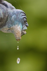 (Geonaut) Tags: brunnen drop nase mund tropfen millesgrden carlmilles wasserspeier sulpturengarten