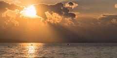 Hazy sunset (LEXPIX_) Tags: sunset haze sunbeams water lake champlain vt lexpix