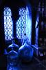 absence of snape (kaimonster) Tags: interior snape harrypotter laboratory movieset bottles magic wizard teacher surreal window blue jars darkarts nighttime