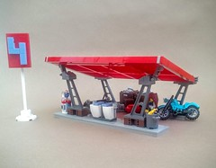 Station No. 4 (Sir If) Tags: lego gas station power red retrofuturistic fallout scifi mechanic nuclear