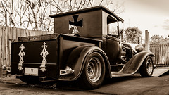 Back in the Day (arrtpics) Tags: car sepia canon70d black white ford vintage
