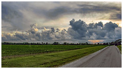 Receding Light, Approaching Storm (myoldpostcards) Tags: rural country landscape fields crops bunn road rd sangamoncounty centralillinois illinois myoldpostcards vonliski season spring weather storm clouds sunset