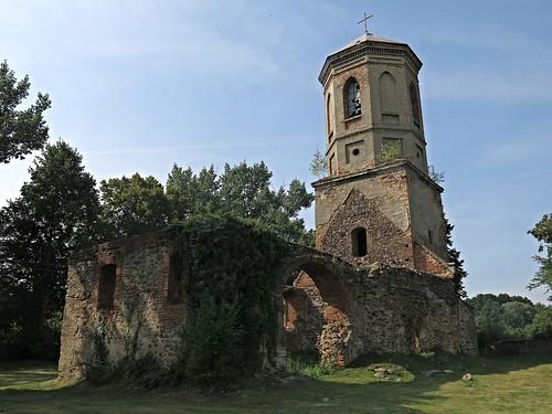 Górzyn, ruiny kościoła