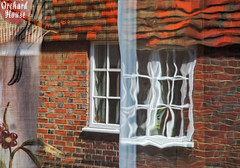 orchard house (lowooley.) Tags: orchardhouse rye kent window reflect reflection distort oldglass
