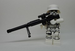 First Order Heavy Sniper with DLT-80 Heavy Blaster Rifle (enigmabadger) Tags: brickarms lego custom minifig minifigure fig weapon weapons accessory accessories combat war star wars scifi sciencefiction clone force awakens imperial empire
