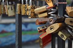 Candados de amor en Santiago de Chile (Vincius A.O. Dittrich) Tags: chile santiago amricadosul amricadelsur southamerica conosur conesul cadeados locks puente ponte bridge vaodittrich art arte ciudad cidade city macro