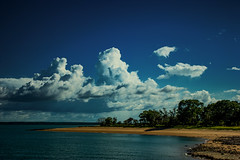 Mandorah Beach (betadecay2000) Tags: beta darwin see water australien australia austral australie northern territory 2016 wolken clouds cloudy sky heaven himmel ocean meer weather januar january city view