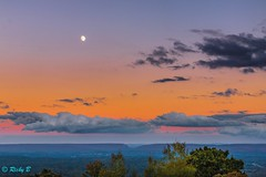 The sun setting, the mountains, the moon out, the clouds angry. Pretty good turn out. (Mangospoops) Tags: mountain sunset moon mountains clouds wanderlust pennsylvania sky wonder landscape trees nature canon photography