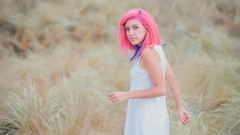 Pink cotton hair girl (Yow Wray) Tags: nikon d800 mxico pinkhair girl cute beauty