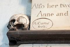 Norwich, Norfolk, UK (mira66) Tags: jenney church monument memorial stjohnmaddermarket norwich norfolk eastanglia england signature curtis skull