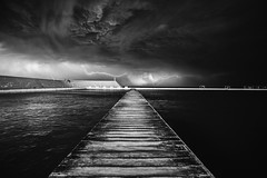 Newcastle Ocean Baths (Leighton Wallis) Tags: storm clouds newcastle sony australia nsw newsouthwales lightning alpha f40 1635mm mirrorless a7r emount ilce7r