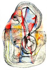 Mantra Interior 3 (Marvillas) Tags: original abstract color colour art painting paper arte creation carton papel abstracto pintura mantra creacion cardboar