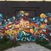 Street art, ancienne caserne Niel, quai de Queyries, La bastide, Bordeaux, Gironde, Aquitaine, France.