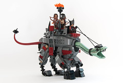 LEGO War Dinosaur (ElNickre) Tags: monster set war lego dinosaur nick machine harrypotter evil lizard lotr creation beast lordoftherings archers cyborg piece spikes own moc basilisk haradrim mumakil legocreation legoset elnickre nickre mouthofsauronhelmet warlizard