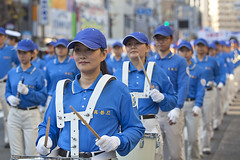 Protest Demonstration  (DigiPub) Tags: street blue woman japan horizontal outdoors photography uniform drum band parade demonstration marching beautifulwoman yokohama marchingband onsale  civilrights gettyimages humaninterest colorimage chinesewoman  kanagawaprefecture protestdemonstration chineseethnicity    m20150531 559439867