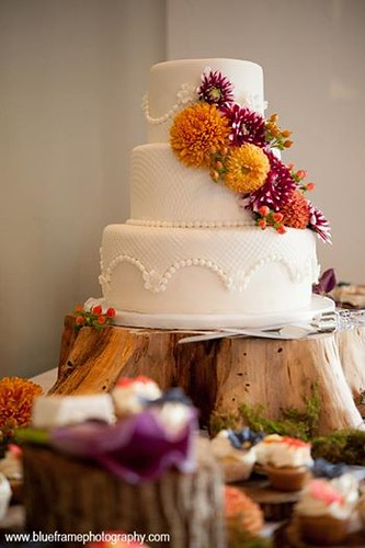 """A gorgeous fresh flower wedding cake with fall colors. • <a style=""""font-size:0.8em;"""" href=""""http://www.flickr.com/photos/50891271@N03/15727062823/"""" target=""""_blank"""">View on Flickr</a>"""
