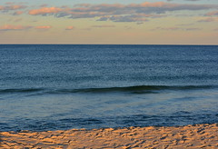 Empty ocean (thomas.hartmann496) Tags: ocean new sea sky beach water photo sand waves pastel empty shore jersey