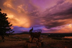 Dusk and storm clouds (Wanderlust_73) Tags: dusk australia canberra thunderstorm stormclouds visitcanberra dairyfarmershill uploaded:by=flickrmobile flickriosapp:filter=nofilter