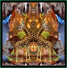 Lunchtime at the Den (oliver.odd - strangely peculiar) Tags: fish abstract colour bird animals lunch happy design jumping den contest lions zebra giraffe annual ideas clutching stickybeak hypotheticalawards metalmous