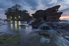 Tanah Lot at Dusk (Pandu Adnyana Photography Tour) Tags: travel sunset bali rock indonesia landscape photography waterfall tour lot wave guide tanah baliphotography balitravelphotography baliphotographytour baliphotographyguide