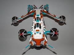 Dread2 (3d_predator) Tags: star starwars republic wars custom clone gunship