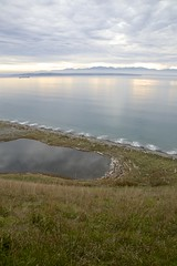 Small waves (Getting Better Shots) Tags: ocean sun water fog clouds reflections trail whidbeyisland ebeylanding