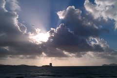 IMAG1823 (cwildtidsunne) Tags: sea mer sunlight luz clouds mar meer cloudy lumire seagull wolken windy rasbaixas galicia galiza nubes nuvens mwe atlanticocean oceanoatlntico gaviota brightness vigo gaivota gz galice ocanoatlntico leuchten sonnenlicht galicien radevigo claror vigobay