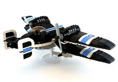 V-30 Warhawk | original by Jon Hall - back (Sylon-tw) Tags: world sky plane hall jon war fighter lego aircraft fantasy ii pilot moc warhawk skyfi dieselpunk sylon sylontw jonhall18