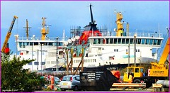 Scotland Greenock the ship repair dock car ferries Bute and Isle of Mull 21 November 2014 by Anne MacKay (Anne MacKay images of interest & wonder) Tags: november car by anne scotland greenock dock ship 21 ships picture repair mackay mull isle ferries 2014 bute