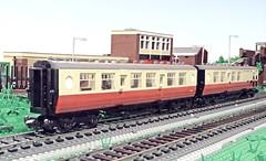 Lego LNER Thompson Coaches (michaelgale) Tags: composite coach lego corridor brake passenger thompson moc britishrailways lner