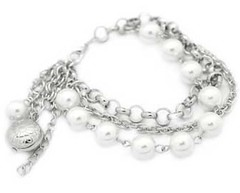 5th Avenue White Bracelet P9409A-1