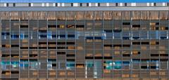 Rennes - Bâtiment IPR - Campus Universitaire de Beaulieu  [Explored] (Hervé Marchand) Tags: windows architecture bretagne repetition rennes beaulieu fenetre immeuble urbain autofocus inexplore