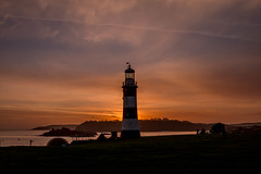 Sunset at Smeatons (trevorhicks) Tags: sunset sea lighthouse tower water canon island harbour plymouth devon hoe tamron smeatons 70d