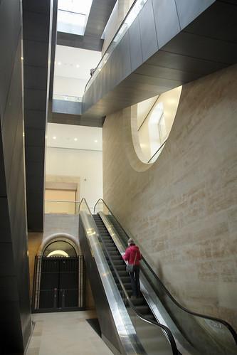 Escalator, Richelieu Wing, Musée du Louvre, Paris, France