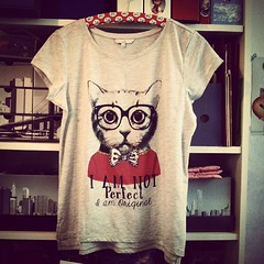 Had to have this one :) (*Dollily*) Tags: ca nerd fashion cat square tshirt squareformat brannan katze purrfect clockhouse iphoneography instagramapp uploaded:by=instagram charmeanmut iamnotperfectiamoriginal