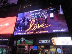 "Ryan Janek Wolowski on the Revlon ""LOVE IS ON"" digital billboard in Times Square New York City for New Years Eve (RYANISLAND) Tags: nyc newyorkcity usa holiday ny newyork america us manhattan 14 broadway 15 american timessquare newyearseve newyeareve happynewyear 212 2014 2015 bway timessquarenewyork timessquarenyc timessquarenewyorkcity timessquareballdrop timessquareny areacode212"